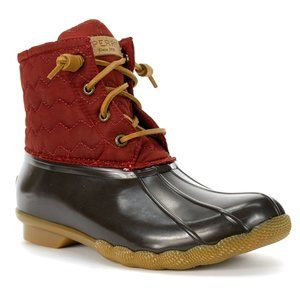 Sperry Saltwater Quilted Duck Boot - Wine